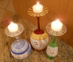 You dont have to be a wine lover to love these three snowmen! Invite them in to warm up a corner of your home this winter. Each lovable snowman is one