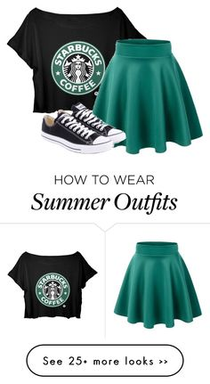 """Starbucks outfit"" by loving-penguin on Polyvore"