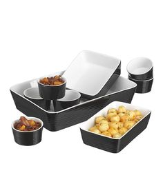 Another great find on #zulily! Black Nine-Piece Bakeware Set by Home Essentials and Beyond #zulilyfinds