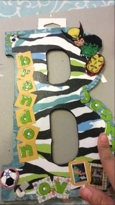 Wood Letters with Mod Podge and Paper tutorial