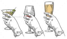 Female Hand Holding Alcohol