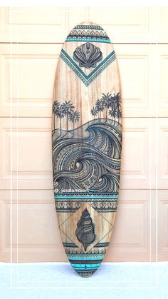 surfsup: Tip Make a packing list. Surfboard Painting, Surfboard Art, Skateboard Art, Art Surf, Longboard Design, Posca Art, Surfing Pictures, Wave Art, Beach Aesthetic
