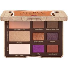 Peanut Butter and Jelly Eye Shadow Palette - Too Faced ❤ liked on Polyvore featuring beauty products, makeup, eye makeup, eyeshadow, too faced cosmetics and palette eyeshadow