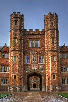 Entrance, St John's College, Cambridge, England