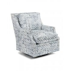 Wing-Back Scoop-Arm Swivel Glider Chair