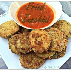 Parmesan Crusted Baked Zucchini Sticks with Marinara Sauce | Recipe ...