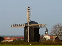 Bockwindmühle in Ebersbach, Sachsen.