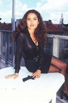 Salma Hayek à ses débuts en 1996.