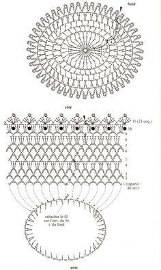 Image gallery – Page 396598310931348212 – Artofit Vase Crochet, Crochet Cup Cozy, Crochet Diy, Filet Crochet Charts, Crochet Motifs, Crochet Handbags, Crochet Purses, Doily Patterns, Crochet Patterns