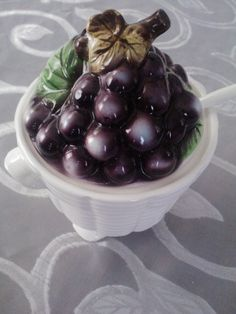 Vintage  Lefton's Blueberry Basket by ArizonaMarmaladeShop on Etsy, $29.50