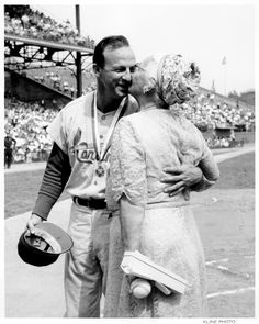 From the Cardinals Museum collection, a photo of Stan Musial and his mother.