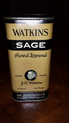 Vintage JR Watkins Spice Tin - Sage by 3LittleWitches on Etsy