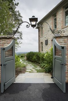 Garden Gate and Light Arbor