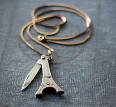 Vintage Eiffel Tower Pocket Knife Necklace + 33 other ninja jewelry pieces