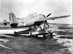 F4F-3S at rest (float variant of the F4F) (1944)