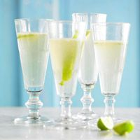 Sparkling Margaritas.  These are quite delicious and fresh!  Check out the recipe here:  http://www.bhg.com/recipe/drinks/sparkling-margarita/