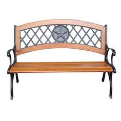 "Garden Treasures 26""L Painted Wood Patio Bench"