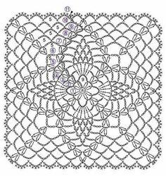 Crochet Bedspread Patterns Part 3 - Beautiful Crochet Patterns and Knitting Patterns Crochet Bedspread Pattern, Crochet Motif Patterns, Crochet Blocks, Crochet Squares, Knitting Patterns, Granny Squares, Débardeurs Au Crochet, Crochet Patron, Free Crochet