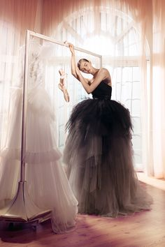 Hamda Al Fahim - Spring/Summer 2017 Collection - WedLuxe Magazine Swan Lake Costumes, Colored Wedding Gowns, Hijab Dress Party, Creative Fashion Photography, Ballet Fashion, Ballroom Dress, White Gowns, Different Dresses, Costume Dress
