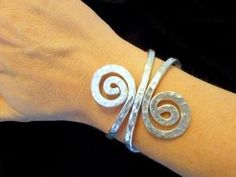 Hammered Wire Swirl Cuff Bracelet - Choose Your Color via Etsy by KAREN LARDIE