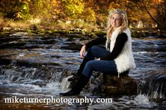 Image detail for -Kokomo Senior Pictures in river with Fall Colors
