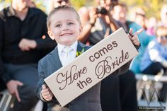 Love the idea of giving kids an important role in the wedding