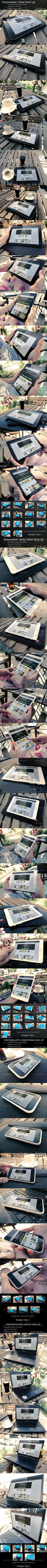 4 in 1 Bundle Realistic Screen with 40 views - Product Mock-Ups Graphics