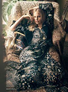 """Bohemian Lights"" Elisabeth Erm for Harper's Bazaar UK October 2015"