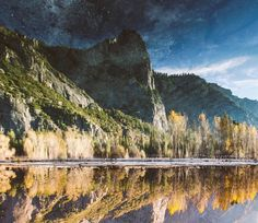 A very strange landscape photo showing a starlit sky over a beautiful American landscape has been giving people a bit of a headache.  The picture, taken in California's Yosemite National Park is actually a bit of a trick – it's upside down, film-maker Kevin Wolf (who took the shot) confesses.  Wolf,