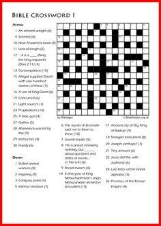 Bible Crossword Puzzle - Crossword I Free Online Crossword Puzzles, Puzzle Solver, New Testament Books, Bible Quiz, Bible Love, Senior Project, Pen Pals, Bible Knowledge, Activity Sheets