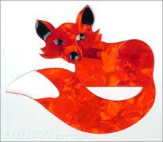 Erstwilder Brooch Pin Faustine Fox Red Gallery