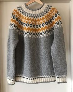 Icelandic Sweaters, Nordic Sweater, Crochet Crafts, Knitting Patterns, Pullover, Knits, Ravelry, Clothes, Fashion