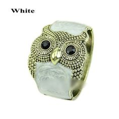 Retro Classic New Women's Fashionable Personality Owl Bracelet Jewelry Bangles Bangle Color:white *** Read more reviews of the product by visiting the link on the image.