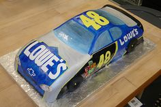 Jimmie Johnson #48 Nascar Birthday Cake