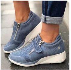 Tenis Casual, Casual Sneakers, Casual Shoes, Shoes Sneakers, Shoes Style, Women's Shoes, Wedge Sneakers, Comfy Shoes, Flat Shoes