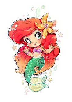 55 Ideas For Disney Art Projects For Kids Little Mermaids Cute Disney Drawings, Disney Princess Drawings, Disney Princess Art, Kawaii Drawings, Disney Fan Art, Cute Drawings, Kawaii Disney, Mermaid Drawings, Mermaid Art