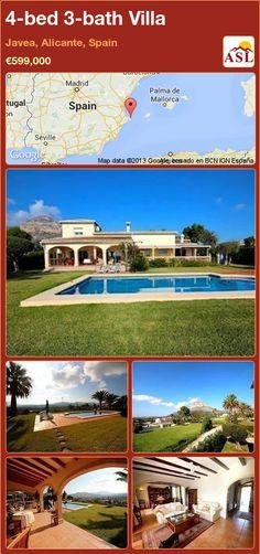 4-bed 3-bath Villa in Javea, Alicante, Spain ►€599,000 #PropertyForSaleInSpain