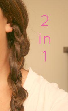 3 Braid Ideas...no heat hairstyles...30 second hairstyles