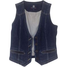 Pre-owned Denim vest with applications