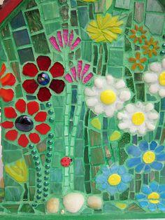 Birds' Love Nest - Mosaic Birdhouse (detail) | by Waschbear - Frances Green