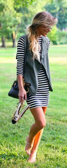 Everyday New Fashion: Striped Summer Dress