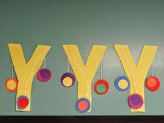 Letter Y is for yo-yo Preschool Letter Crafts, Alphabet Letter Crafts, Abc Crafts, Preschool Projects, Daycare Crafts, Classroom Crafts, Alphabet Activities, Toddler Crafts, Preschool Activities