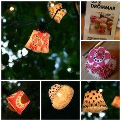 DIY Cupcake Outdoor Lights  #outdoor #light #diy #handmade #craft #decorating #idea #decor