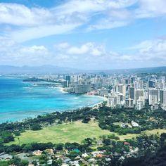 View from Diamond Head #diamondhead#oahu#hawaii#hawaiihiking#diamondheadtrail#mustdo#hikingoahu Stuff To Do, Things To Do, Oahu Hawaii, River, Places, Blog, Outdoor, Inspiration, Wanderlust