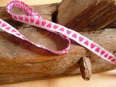 Webband, Herz, Pink, Weiß, Band, Bänder, Borte