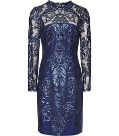 Asabi Midnight Bodycon Dress - REISS