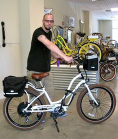 Chef Daniel is going to be rockin' a Pedego Interceptor on his commute!