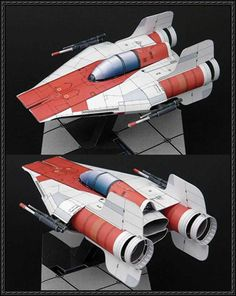 Star Wars - RZ-1 A-Wing Interceptor Starfighter Ver.2 Free Paper Model Download - http://www.papercraftsquare.com/star-wars-rz-1-wing-interceptor-starfighter-ver-2-free-paper-model-download.html