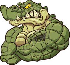 Biblioteca de vetores Crocodile, ilustrações Crocodile livres de royalties | Depositphotos®