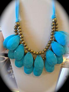 Blue Bib Drop necklace